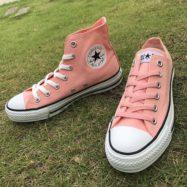 . ALL STAR PINK OX/ HI ¥6,500 +tax . ※取扱店舗限定商品 . #CONVERSE #ALLSTAR #CHUCKTAYLOR #SHOES #KICKS #JAPANMODEL #PINK #コンバース #オールスター #チャックテイラー #シューズ #スニーカー #ジャパン #ピンク #abcマート