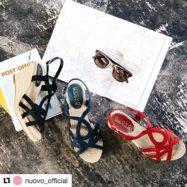 #Repost @nuovo_official with @get_repost ・・・ 外にお出かけしたくなる気温ですね🌞WEDGEサンダルならヒールでスタイルUP &ラクチンなのでショッピング🛍にもデートにもオススメです #nuovo #summer #spring #pumps #lady #girl #fashion #pink #abcmart #sandal #wedge #sunglass #shopping #date