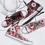 . CONVERSE ALL STAR FLW HI BLACK WHITE ¥7,000+tax . #converse #allstar #chucktaylor #shoes #kicks #sneakers #flower #kawaii #beautiful #kotd #コンバース #オールスター #チャックテイラー #シューズ #スニーカー #フラワー #花 #花柄 #総柄 # #ABCMART